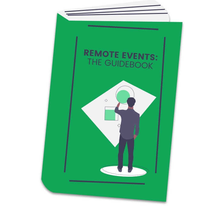 px.com remote-events-guidebook landing page man & book
