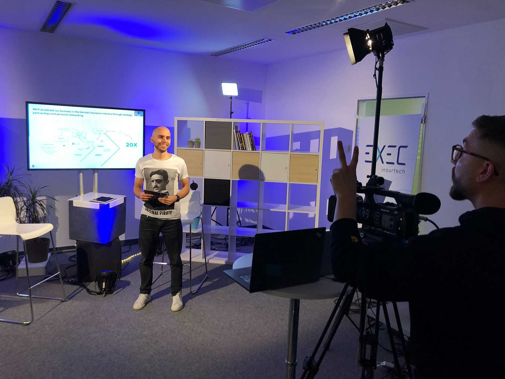 Backstage Picture for the EXECinsurtech Remote Edition - a PIRATEx Production