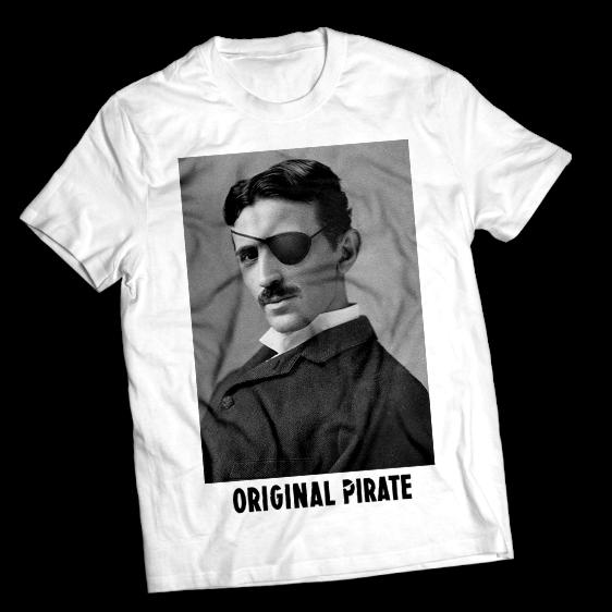 Tshirt Illustration - Original Pirate Tesla