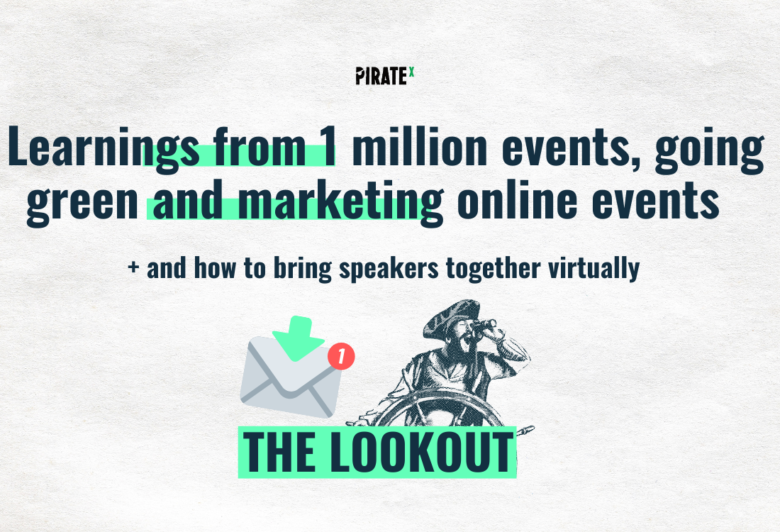 PIRATEx all about online event newsletter eventbrite and one million online events how to market your events successfully and what it takes to bring online event speakers online together virtually