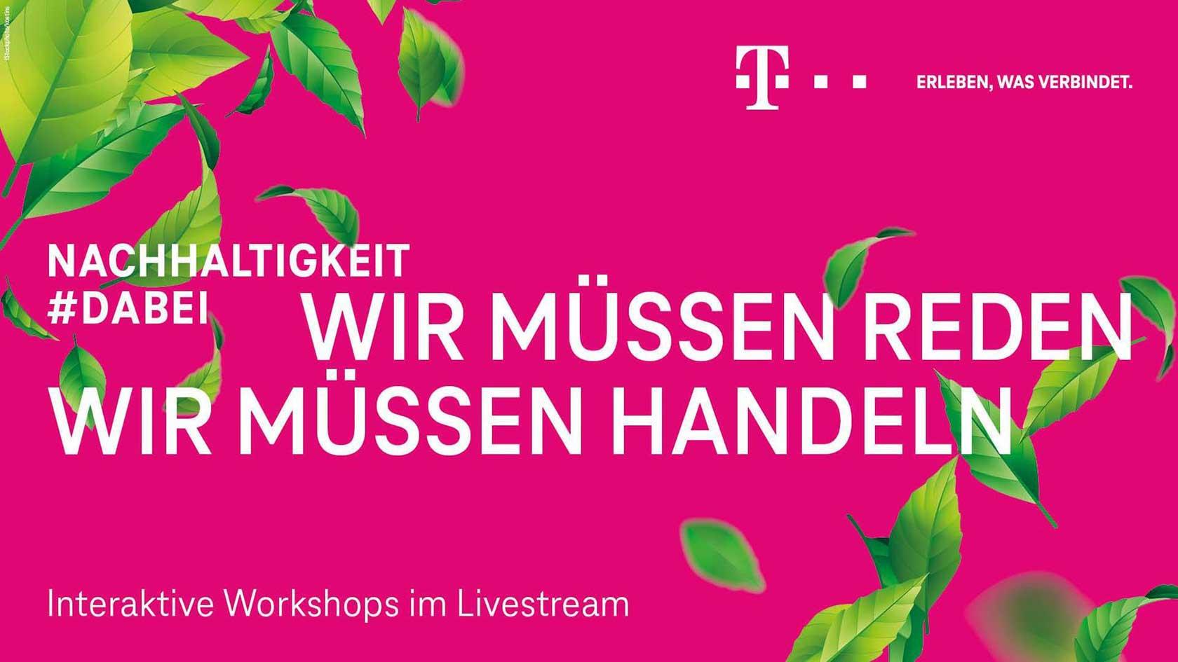 Header Picture for Nachhaltigkeit #dabei for Telekom - A PIRATEx online Event production