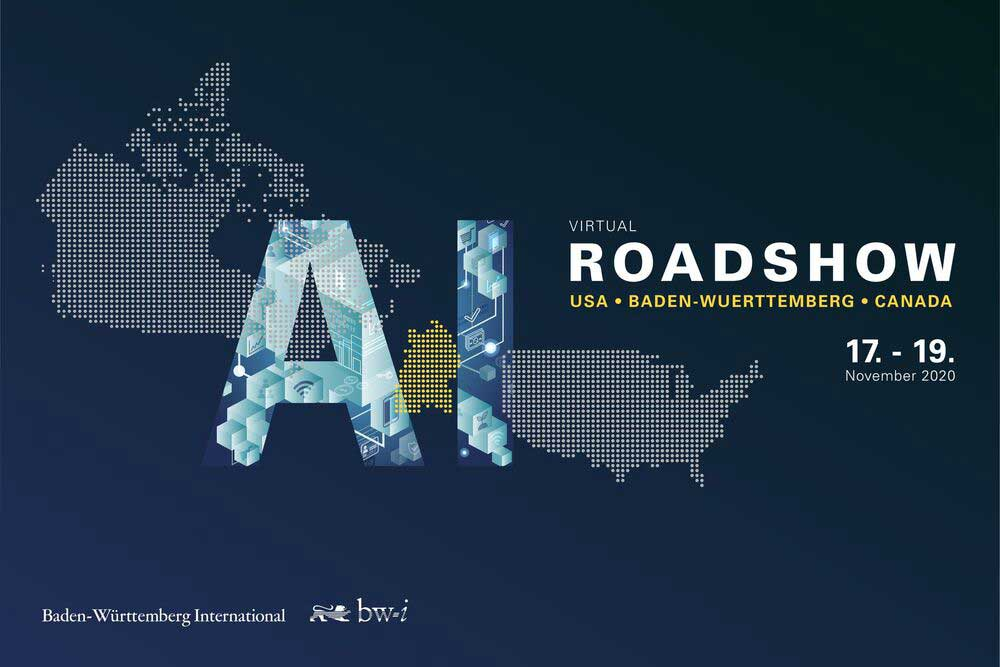 Header Picture of the AI Virtual Roadshow 2020 for bw-i and produced by PIRATEx