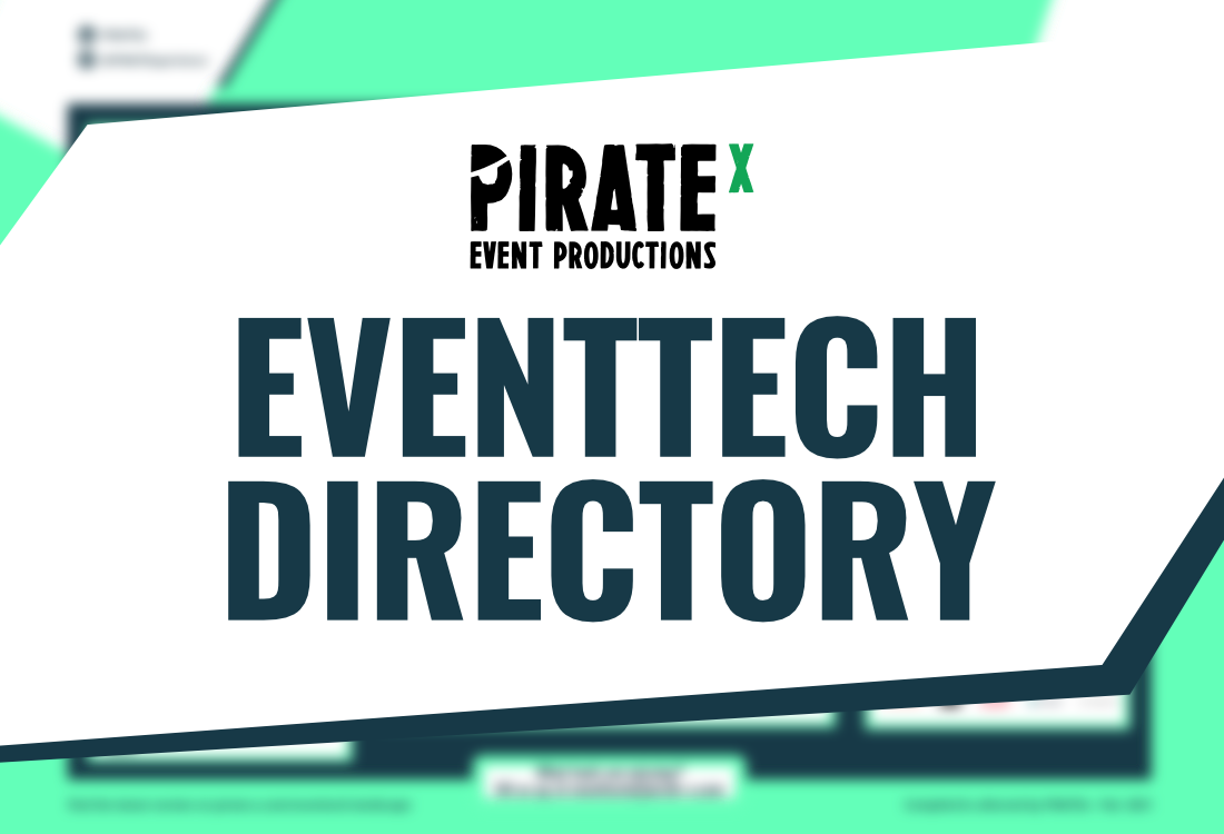 Header picture for the PIRATEX Eventtech Tools Directory for online experiences Blog Article