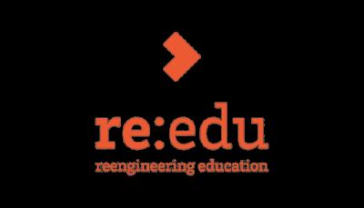 re-edu logo orange on white